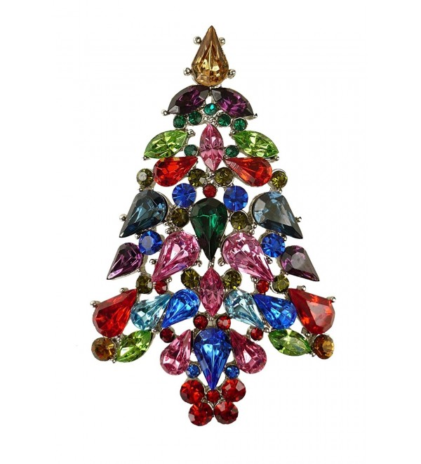 "Bejeweled Christmas ""Color Explosion"" Rhinestone Tree Pin 116 - CX11RKEXUUD"