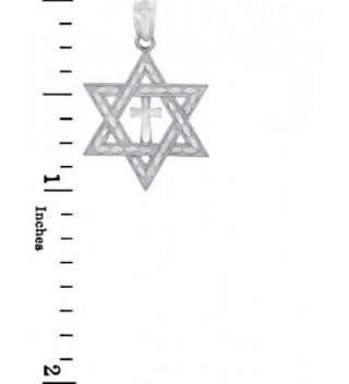 Sterling Silver Jewish Charm Pendant in Women's Pendants