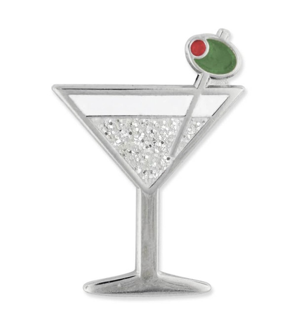 PinMart's Martini w/ Olive Fun Food Celebration Glitter Enamel Lapel Pin - CI184W4K4W5