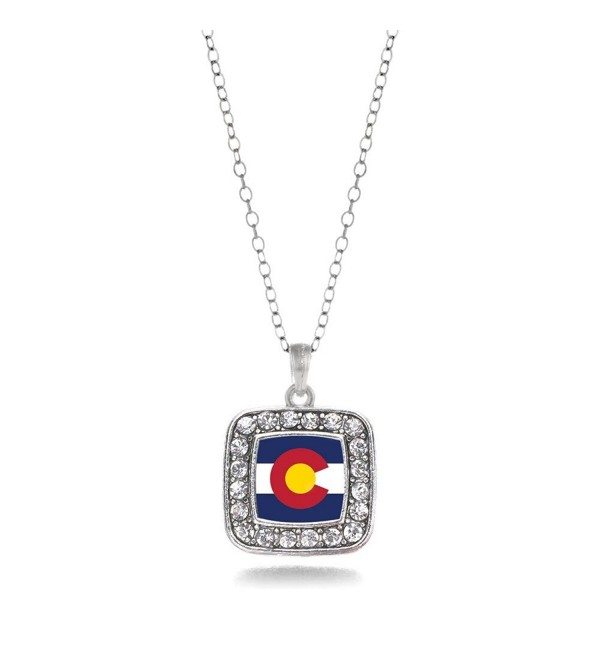 Colorado Flag Charm Necklace - CZ11V7TXTZ3
