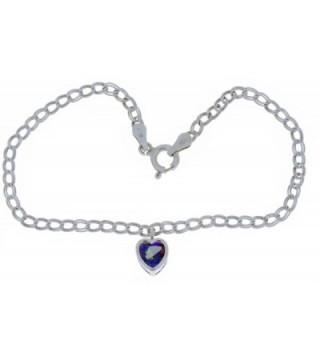Natural Mystic Topaz Heart Bezel Bracelet .925 Sterling Silver Rhodium Finish - CD11GLOKBOB