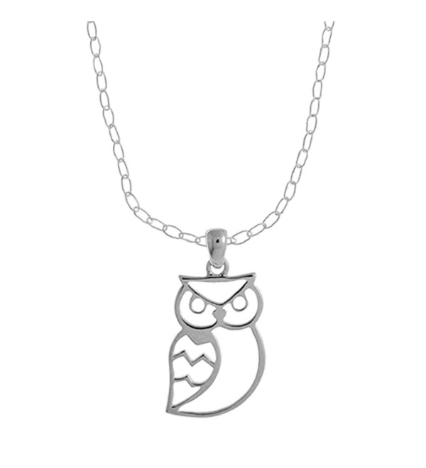 Boma Sterling Silver Owl Necklace- 16 inches - CP119HXZF5N