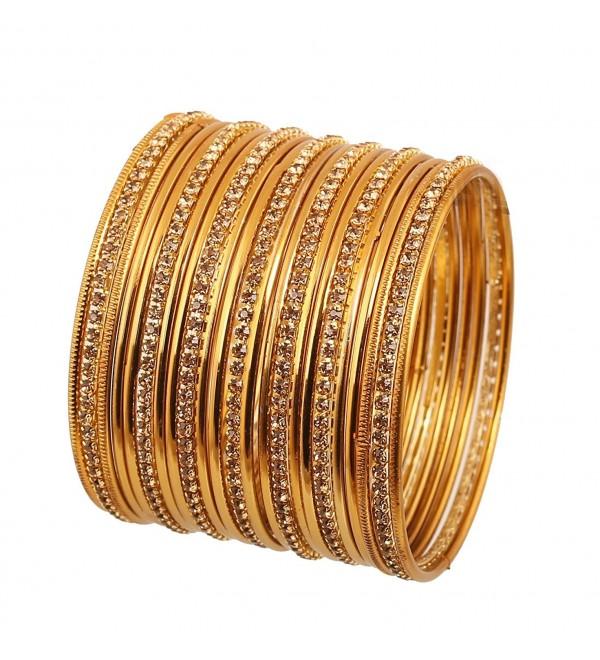 Touchstone Collection Rhinestone Bollywood Bracelets - 2.6 - CB187GYS2SM