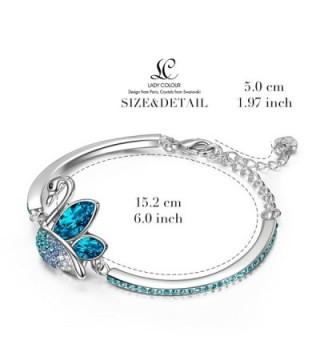 LadyColour Bracelets Swarovski Crystals Jewelry