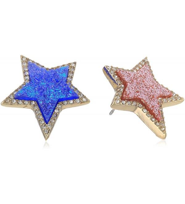 Betsey Johnson Mismatch Star Earrings - CK1876EG97O