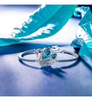 LadyColour Bracelets Swarovski Crystals Jewelry in Women's Bangle Bracelets