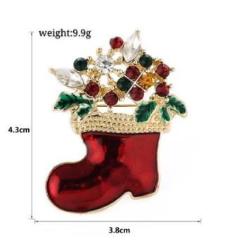 Christmas Brooch Holiday christmas stocking