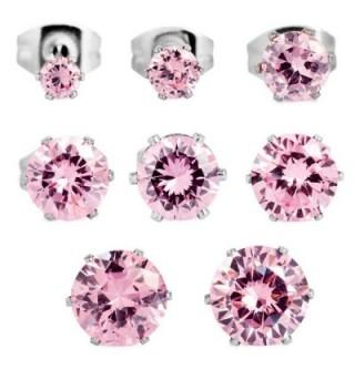 INBLUE Womens Stainless Earrings Flower