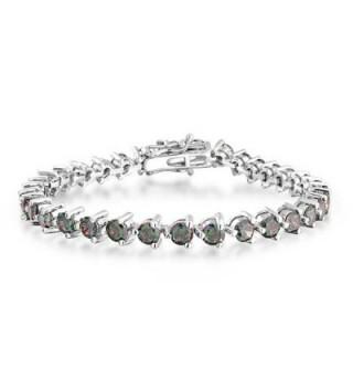 Bling Jewelry Simulated Rainbow Bracelet in Women's Tennis Bracelets