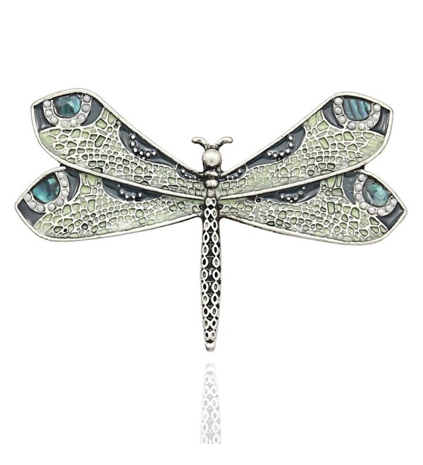 Silver Fashion Victorian Dragonfly Simulated - Vintage Silver-tone - CD12K8RRKPJ