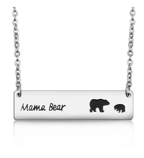 MAOFAED Necklace Pendant Mother%60s necklace - Mama bear necklace with 1 cub - C4182XGKTGS