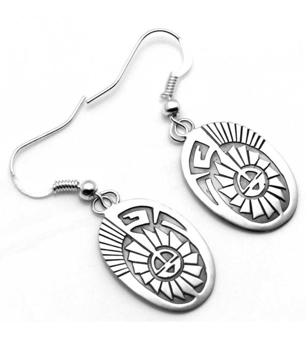 Navajo Sterling Silver Sun Face Earrings - CE128QD4TC9