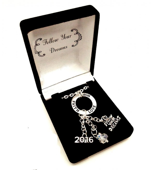 Graduation Gift 2016 Follow Your Dreams Faith Hope Love Necklace In Gift Box - CE12GHFZEJZ