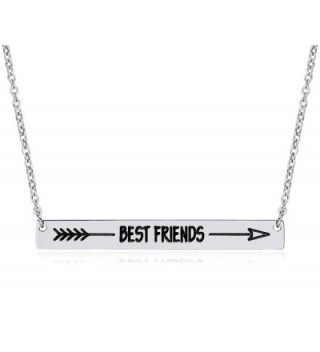Lazycat Stainless Steel 18K Plated Bar Necklace with Engravable Bar Pendant - CO180O3Z6QN
