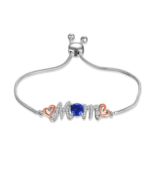 Caperci Adjustable Sterling Bracelet Sapphire - CJ185LGI8X0