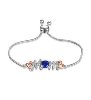 Caperci Adjustable Sterling Bracelet Sapphire - CJ185LGI8X0