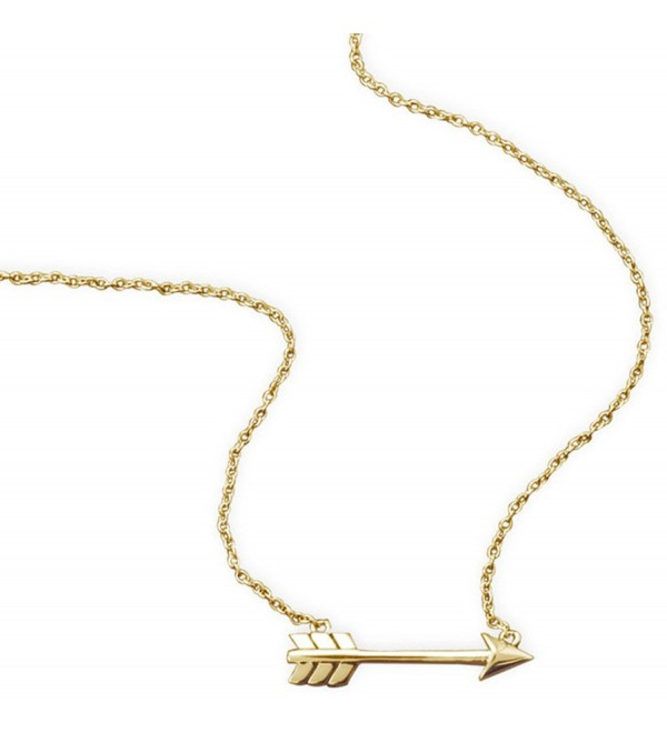 Goldtoned Aim High Arrow Necklace Silvertone - CW11QNHXCEH