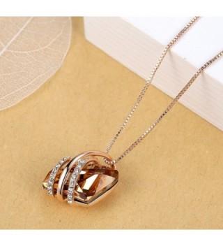 Presented Leafael Swarovski Crystals Necklace