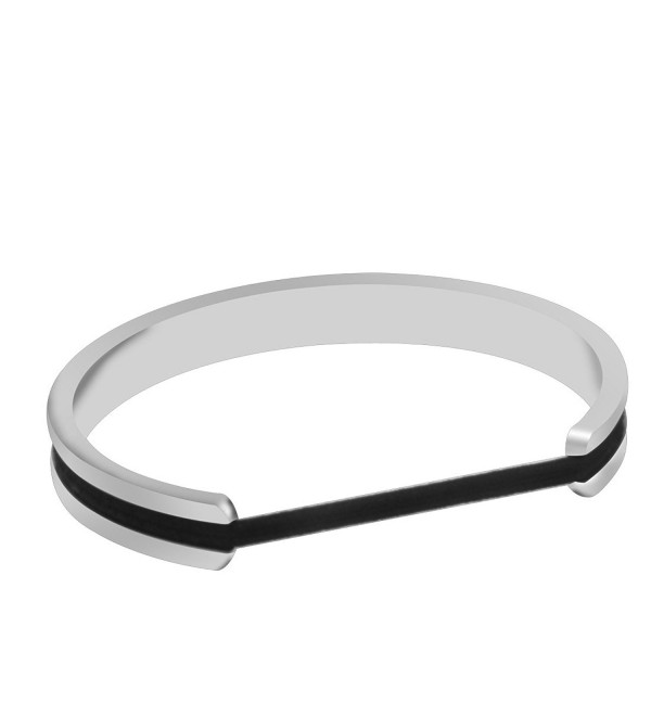 Zuo Bao Hair Tie Bracelet High Poshing Stainless Steel Bangles Bracelet for Women - CZ12N16R1X7