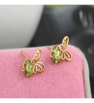 YAZILIND Charming Butterfly Zirconia Earrings in Women's Stud Earrings