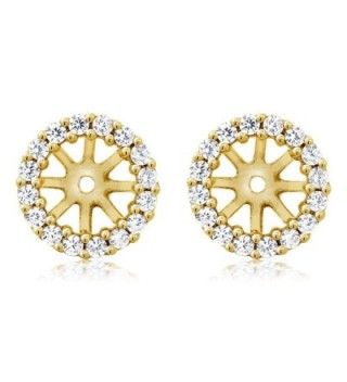 Yellow Plated Sterling Earring Jackets in Women's Stud Earrings