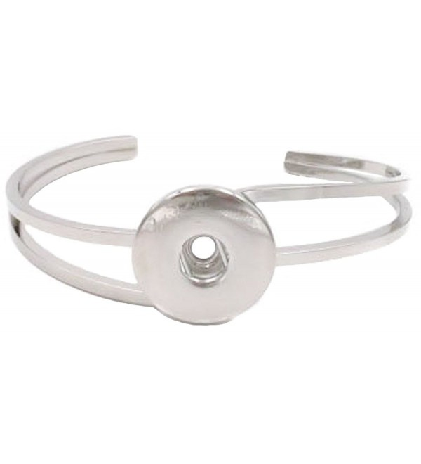 Ginger Snap Bypass Interchangeable Bangle Bracelet - C2188ORGXTT