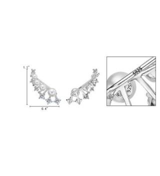 EleQueen Sterling Simulated Crawlers Earrings in Women's Cuffs & Wraps Earrings