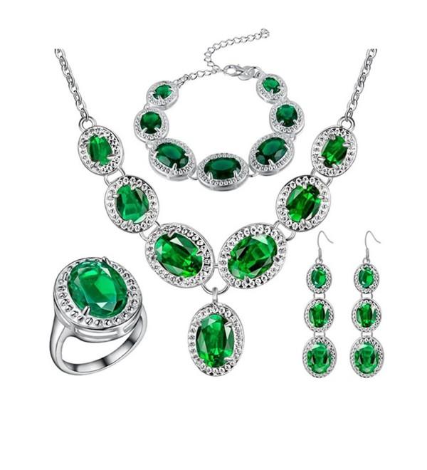 J MOSUYA Sterling Zirconia Necklace Valentine - C912E5V2WXT