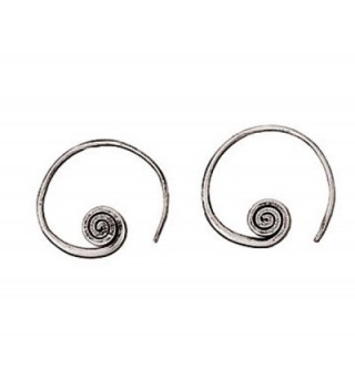 Sterling Earrings Textured Designs Nathan - C51290LWWN9