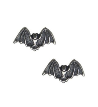 Sterling Silver Little Bat Post Stud Earrings - CE11LBGRLO7