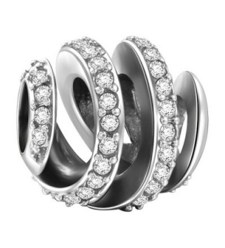Soufeel Pave Spiral Charms 925 Sterling Silver Amazing Gifts - C612NA4HV49