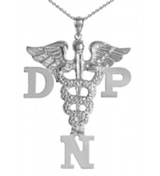 NursingPin - Doctor of Nursing Practice DNP Necklace in Silver - Nurse Jewelry - CH1179HAWWJ