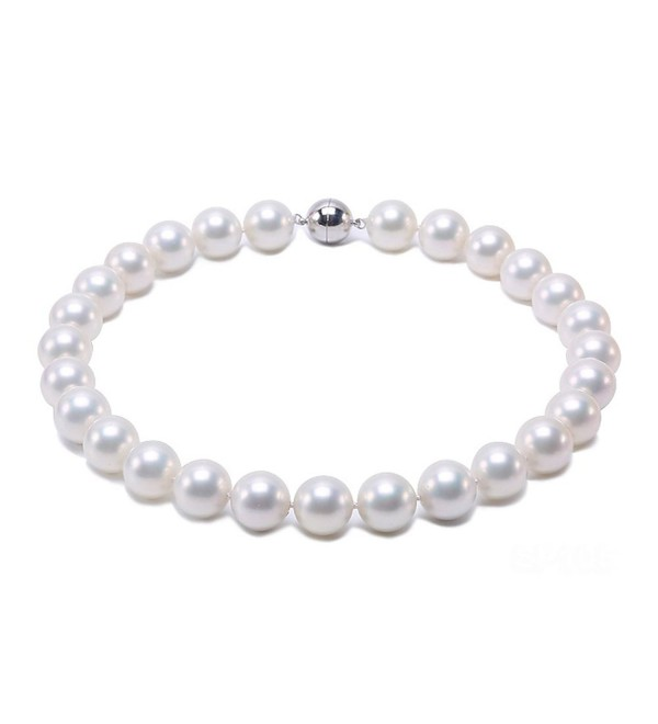 """JYX White Round Seashell Pearl Necklace 18"""" - CE186X95KZM"""