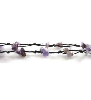 Amethyst Beautiful Centimeters Handmade JB 0127A in Women's Anklets