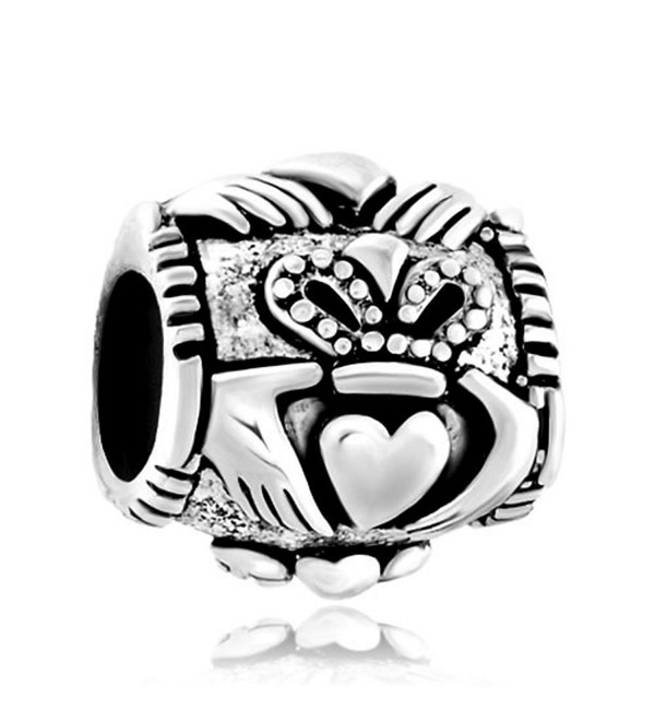 Sterling Silver Celtic Friendship Claddagh Best Friend Charm Sale Cheap Jewelry Beads Fit Pandora Bracelets - CR128OKQ41X