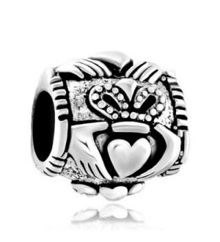 Sterling Silver Celtic Friendship Claddagh Best Friend Charm Sale Cheap Jewelry Beads Fit Pandora Bracelets - CR128OKQ41X