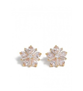 Flower Stud Earrings With Crystals Floral Ear Studs Filigree Vintage Earring Set - golden- daisy - CQ12OBHM6FT