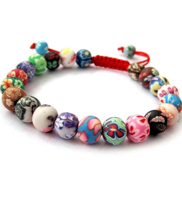 Fimo Polymer Clay Beads Buddhist Prayer Wrist Mala Bracelet - CP118S65OUV