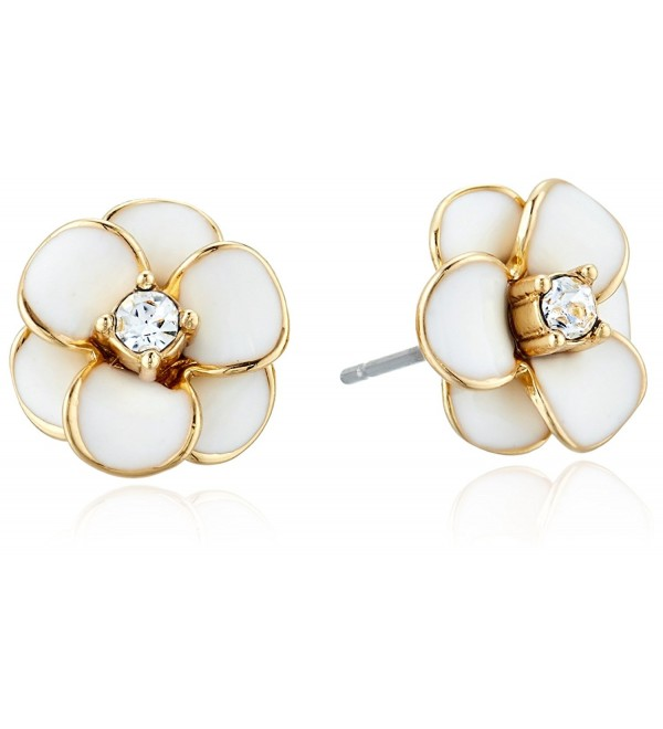 kate spade new york Flower Stud Earrings - White - CI12O3Z3QJU