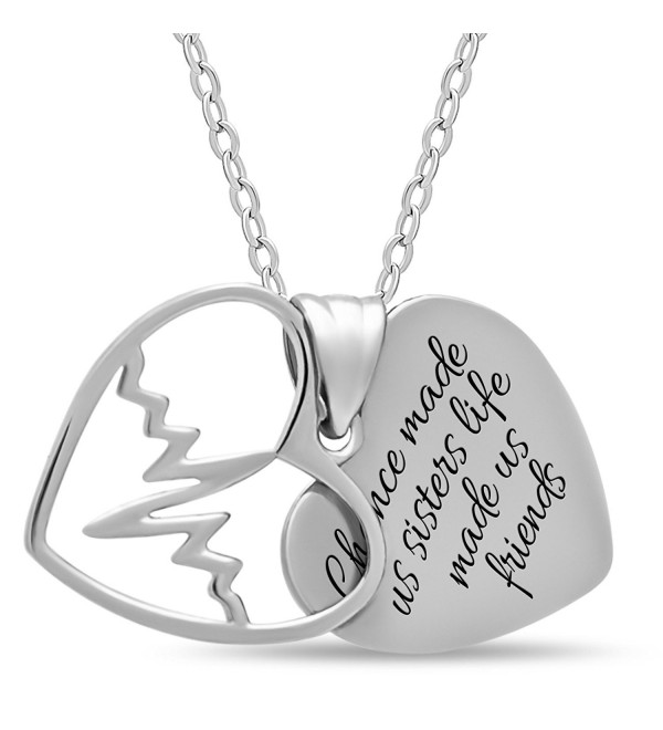 Sterling Silver Sister Necklace Forever - CT12FYZWJX3