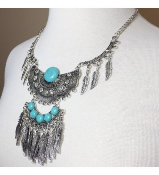 Simulated Turquoise Western Southwestern Necklace in Women's Chain Necklaces