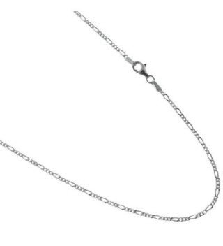 Figaro Chain 1.5mm Italian 925 Sterling Silver Necklace 16-18-20-22-24-30 Inches Available - CY11UNMQYJ3