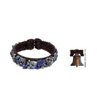 NOVICA Lapis Lazuli Woven Bracelet