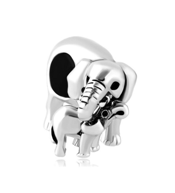 LovelyJewelry Mom Mother Elephant Love Baby Child Charm Beads For Bracelet - CY12EE2B5YB