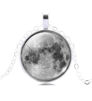 Jiayiqi Surface Moonscape Necklace Earrings