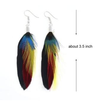 KISSPAT Peacock Handmade Dangling Earrings in Women's Drop & Dangle Earrings