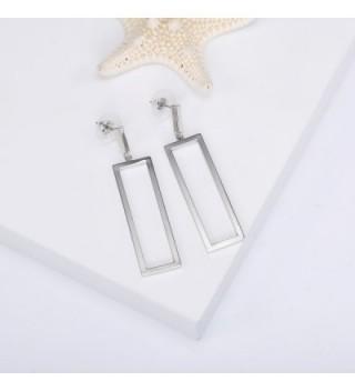 LILIE WHITE Geometric Rectangle Imitation in Women's Drop & Dangle Earrings