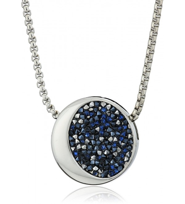 Kenneth Cole New York Silver and Blue Sprinkle Stone Pendant Necklace - C1186UD6TOQ