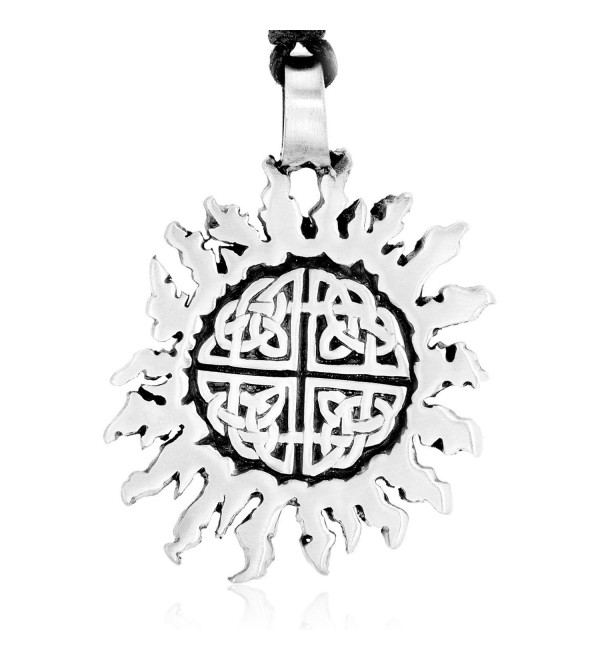 Dan's Jewelers Celtic Sun Necklace Pendant with Irish Knot Pattern- Fine Pewter Jewelry - CS11176H1CN