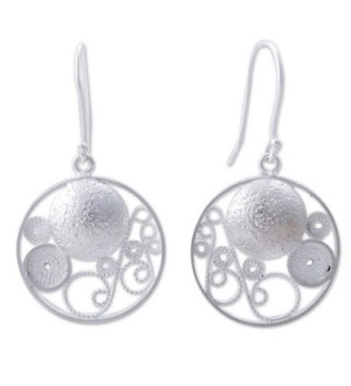 NOVICA .925 Sterling Silver Round Filigree Dangle Earrings- 'Circular Harmony' - CE127QZUHSX